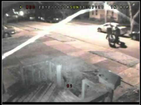 4 on 1 Street Fight Captured by Security Camera Batavia Illinois