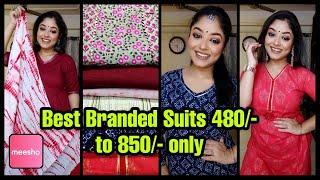 Meesho💙Meesho Haul💙Best Branded Suits Under 480/- to 850/-💙Meesho Kurti Haul💙Cotton suit💙Vaishali