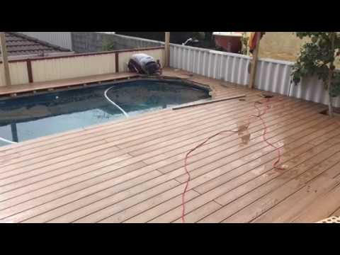 Composite Decking Around A Pool