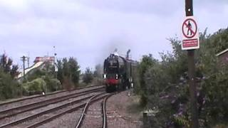 60163 Tornado hits Dawlish Warren in all her glory. with IMMENSE WHISTLE!!!!!! thumbnail