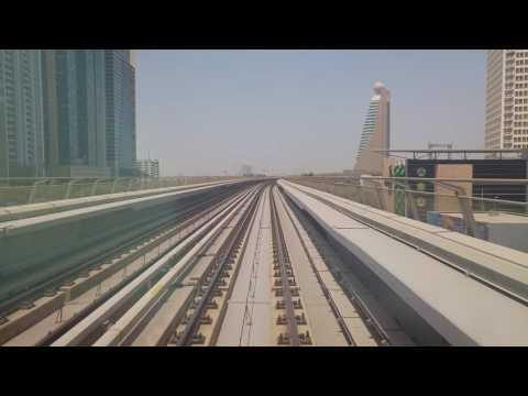 Dubai metro, Dubai mall to Burjuman station