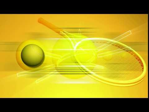 Теннисная ракетка и мяч футаж для монтажа