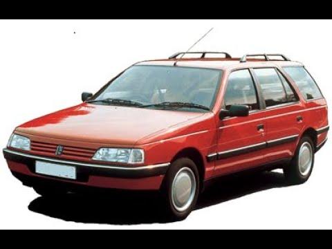 Обзор Peugeot 405 универсал.  1992гв  2.0.