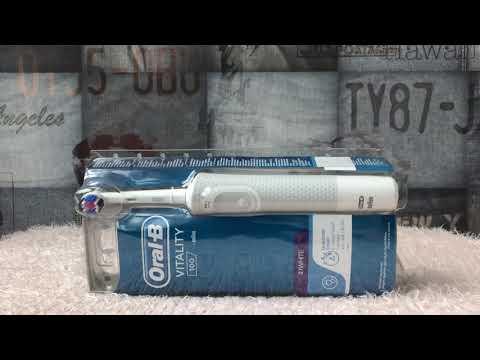 Обзор электрической зубной щетки ORAL-B BRAUN Vitality 3D White/D100 White из Rozetka