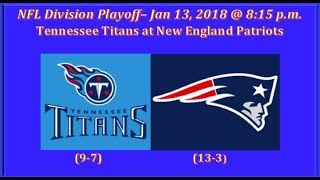 TENNESSEE TITANS vs NEW ENGLAND PATRIOTS 2018 AFC Divisional Playoffs NFL 2nd and Ten Football