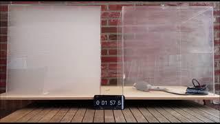 Gastrion - Trion+ ionizer / air filter smoke test Acryl box 125 liter