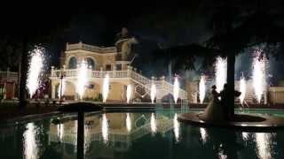 Музыкальный фейерверк, свадьба, Ялта, отель Ореанда(Фейерверк выполнен командой пиротехников