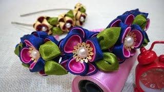 Kanzashi Flower Headband Tutorial  – Lindas flores de tecido