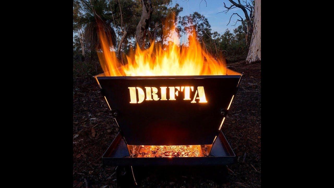 drifta fire pit review video - s1 ep 6 - jul 2018  stresslesscampmore