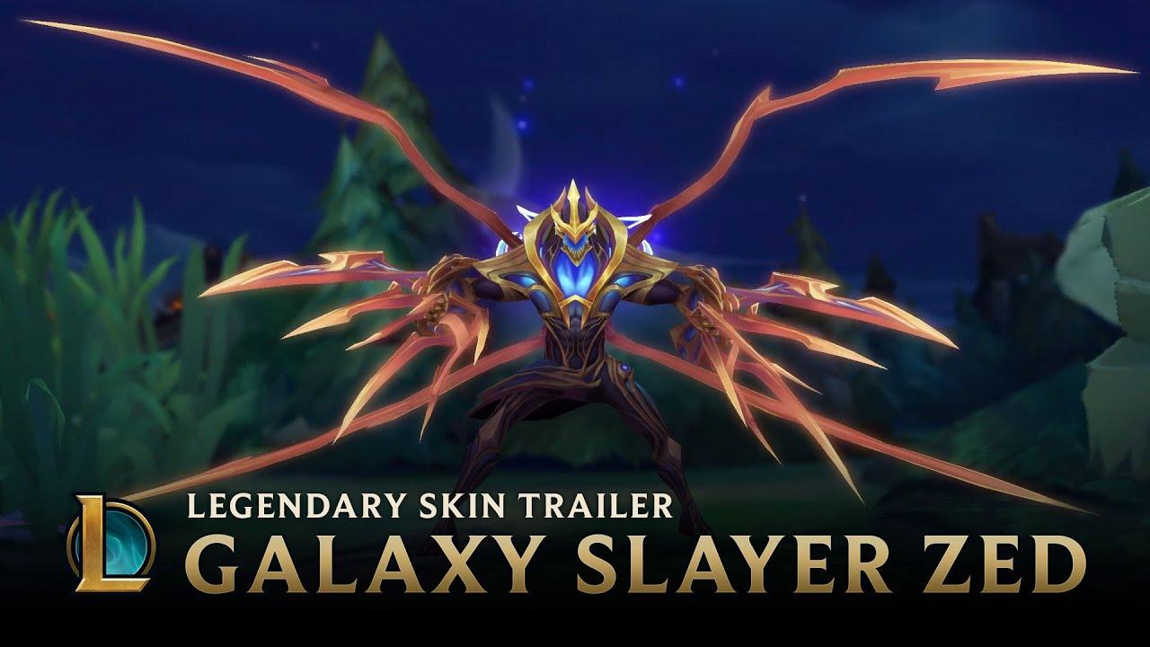 Tear The Worlds Asunder Galaxy Slayer Zed Legendary Skin Trailer Lea League Of Legends Slayer Shadow Fall