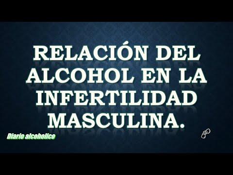 Relación del alcohol en la infertilidad masculina.