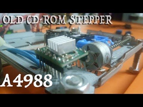 Cd-rom Stepper With A4988 | Arduino Tutorial