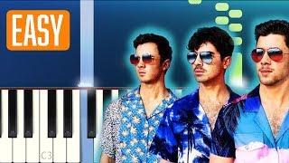 Jonas Brothers - Cool (100% EASY PIANO TUTORIAL)