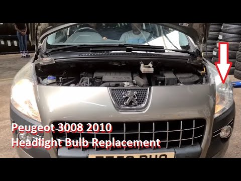 how to replace main Dipped Beam on Peugeot 3008 Full HD 1080p