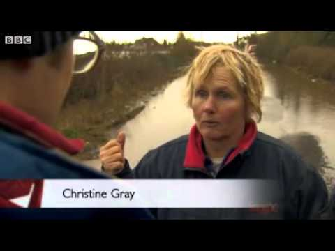 BBC News   Extreme weather  24 hours on the Somerset Levels