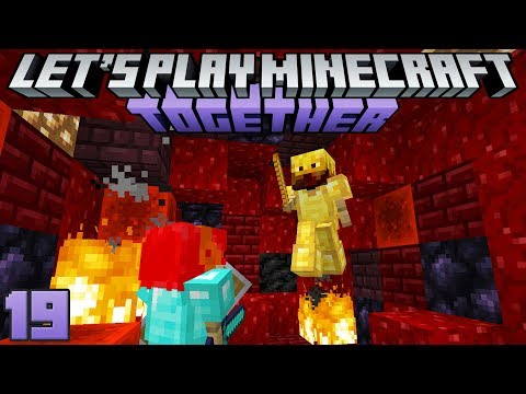 Let's Play Minecraft Together 19 Art Gallery & Mini Nether Tour