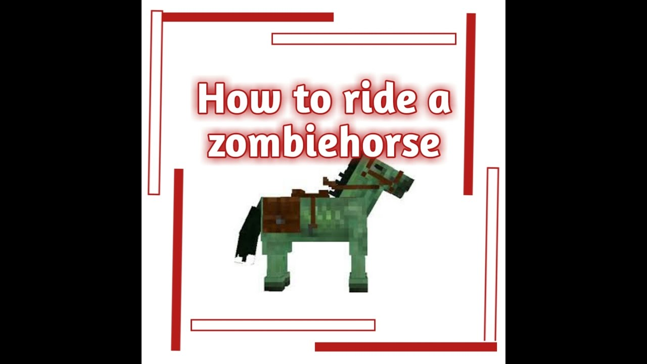 MCPE How to ride a zombie horse - YouTube