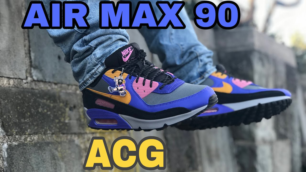 """NIKE AIR MAX 90 ANNIVERSARY INSPIRED PERSIAN VIOLET """"ACG"""" QUICK STRIKE 2020 UNBOXING & ON FEET"""