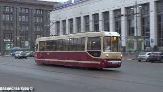 Движение трамваев около Финляндского вокзала (Улица Комсомола)