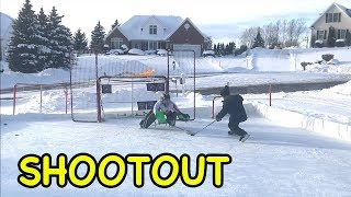 Kids HocKey Outdoor Rink BreakAway ShootOut