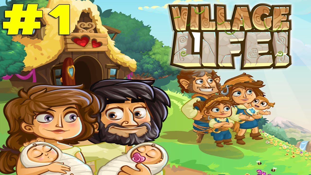 скачать игру village life love babies мод много денег