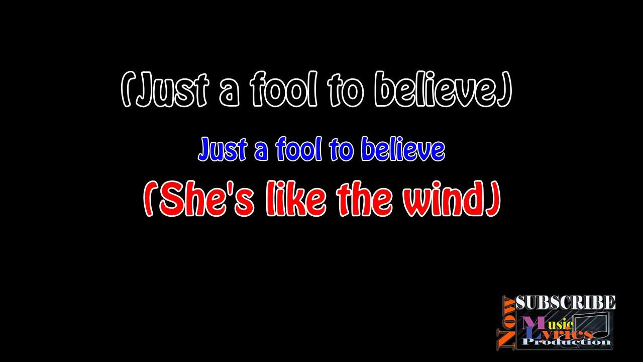 Patrick Swayze - She's like the wind Lyrics - YouTube