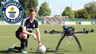 Football dropped from drone and controlled - Guinness World Records