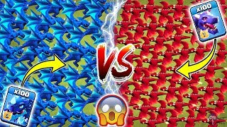 100 Electro Dragon vs 100 Dragon Clash of Clans Ultimate   Electro Dragon vs Dragon COC