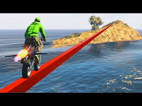WORLDS LONGEST IMPOSSIBLE TIGHTROPE! (GTA 5 Funny Moments)