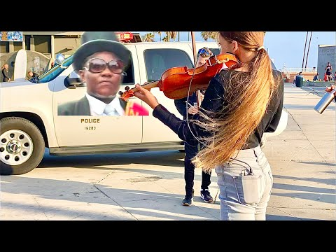 Police couldn't stop her from playing Coffin Dance on Violin