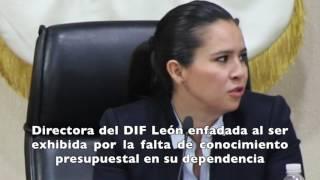 SE ENFADA DIRECTORA DEL DIF LEÓN ANTE CUESTIONAMIENTOS PRESUPUESTALES