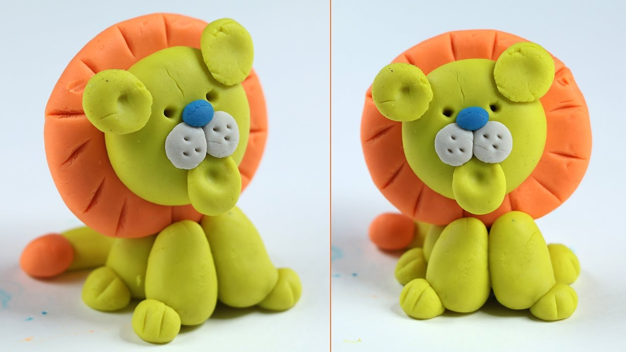 Play Doh Lion - How to Make, Step by Step for Kids (Clay Art)
