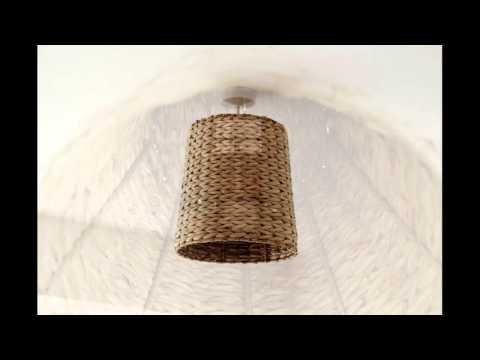 Смотреть онлайн Как сделать абажур своими руками ? Из плетённой корзины