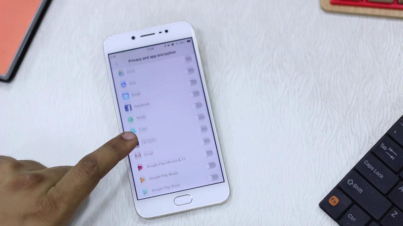 Vivo V5s: How to Lock Apps Using Fingerprint Scanner