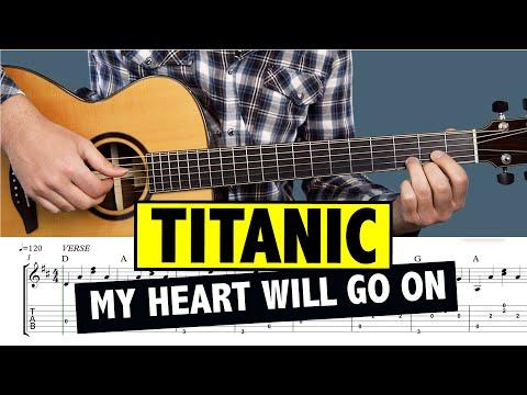 Titanic Guitar Tutorial My Heart Will Go On (FINGER PICKING CHORDS)