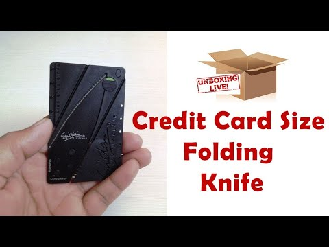 Unboxing Credit Card Knife and Review in (Hindi)