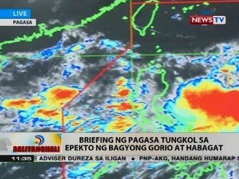 Briefing ng PAGASA tungkol sa epekto ng Bagyong Gorio at Habagat