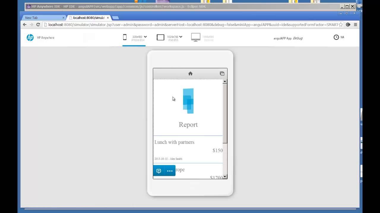 Develop AngularJS App via HPA IDE