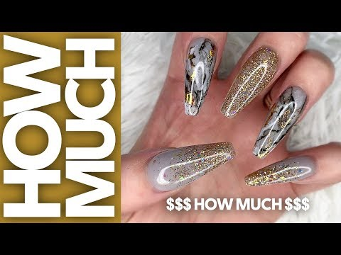 Nail Restructure Acrylic Pink to Acrylic Holiday Bling