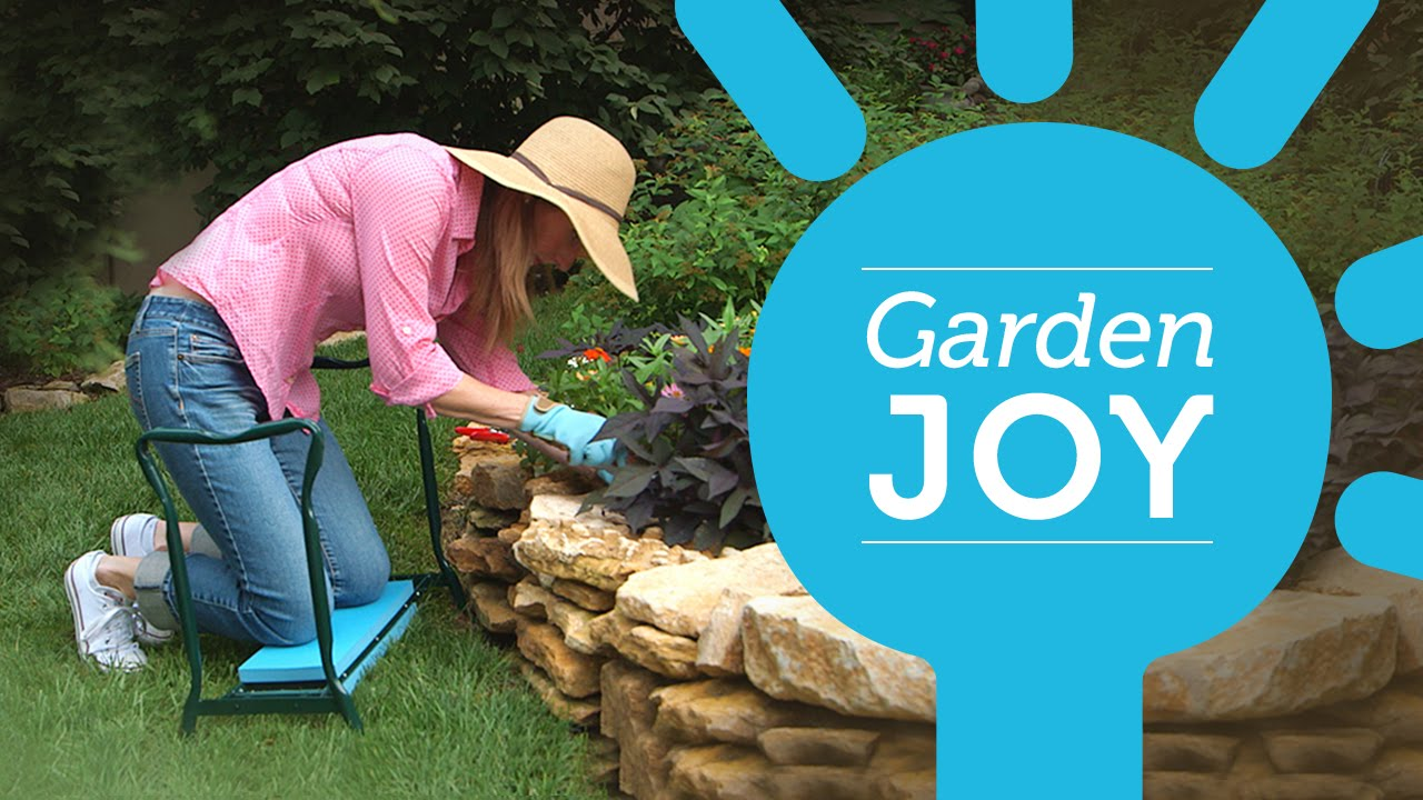 save your knees when gardening with the garden joy - Garden Joy