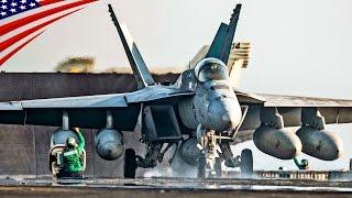 U.S. Navy Supercarrier Ike Day & Night Flight Operations in Persian Gulf - ペルシャ湾に展開する米海軍空母の艦載機離着艦
