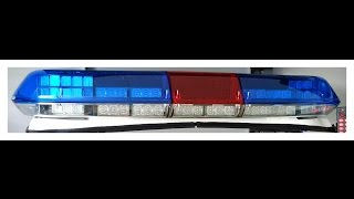 #15 Federal Signal Vama Vista Sputnik Lightbar, GEP 500 sirene Politie dakset 2009