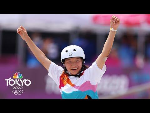 THIRTEEN-year-old Momiji Nishiya wins gold in street skateboarding | Tokyo Olympics | NBC Sports