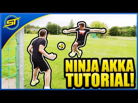 "Football Skill Tutorial #24 ""NINJA AKKA"" ★ Ronaldo/Messi/Neymar Skills (How To Do)"