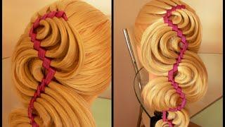 Коса Голливудская волна. Видео-урок.(Красивая причёска. Коса с лентой. Плетение. Причёски. Косы. Видео-уроки. Идеи. Канал: http://www.youtube.com/channel/UCDZzyw0sk9F..., 2015-06-19T15:37:52.000Z)