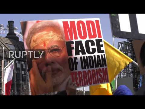 UK: 'Stop killing minorities' - Protests and supporters welcome Modi to London
