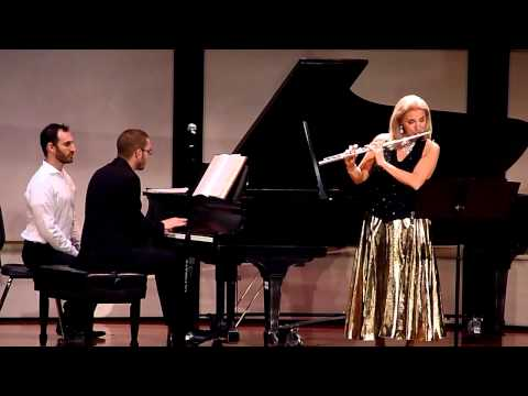 "Carol Wincenc and Matthieu Cognet ""Sonata for flute and piano – Presto giocoso"" – 11/15/14"