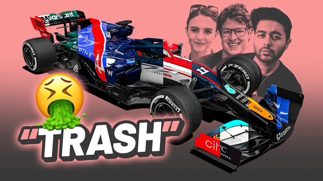 F1 Youtubers Roast My 2021 Livery Redesigns (ft. Aarav, Jess McFadyen, TommyWTF1, Jake Paul, Tom97)