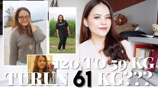 TURUN 61 KG?!?! 120KG TO 59KG DIET STORY - RELITA LESTARIA (BAHASA)