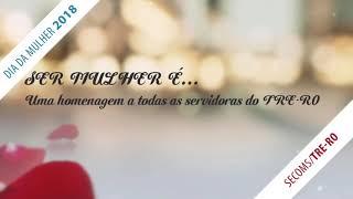 Vídeo institucional do Tribunal Regional Eleitoral de Rondônia. Faz parte da campanha Ser Mulher é... produzido pela Secoms em homenagem ao Dia Internacional da Mulher.